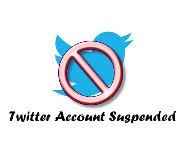 Twitter Account suspended