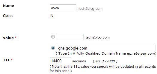 DNS setting CNAME
