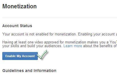 youtube channel monetization