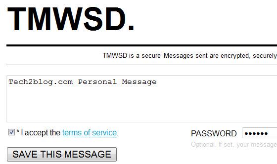 TMWSD secure message