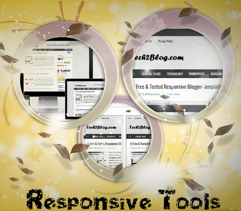 Responsive tools for website