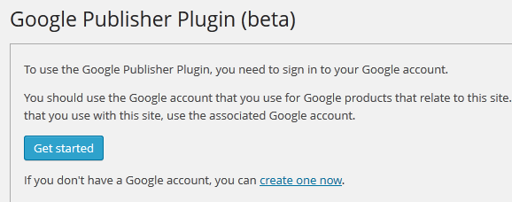 Google Adsense plugin get started
