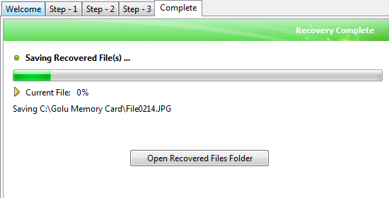 card recovery final step