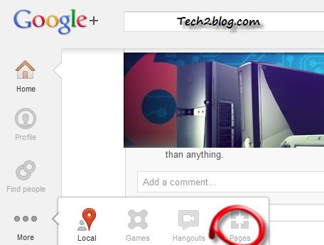 Create Google page