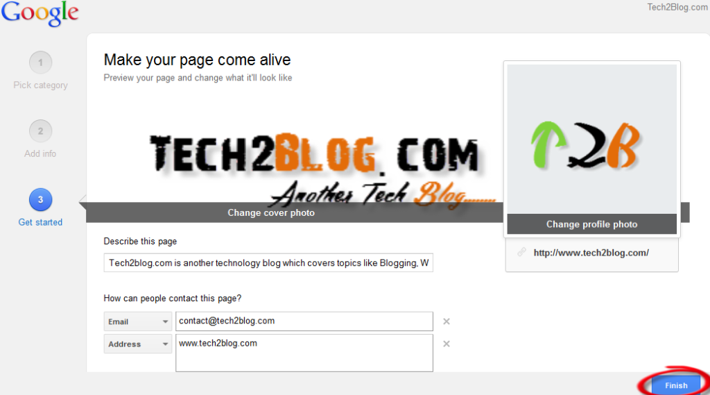 How to Create Google Plus Page for Website
