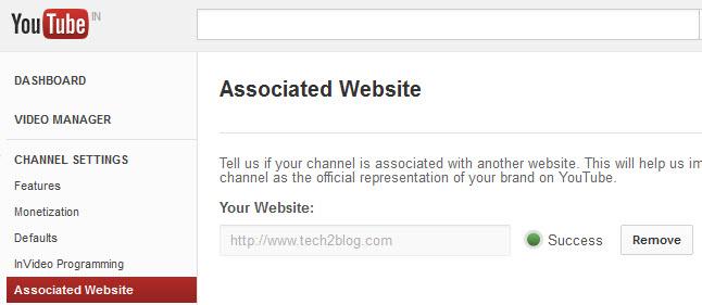 Associated Website on YouTube Success
