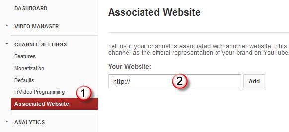 Associated Website on YouTube