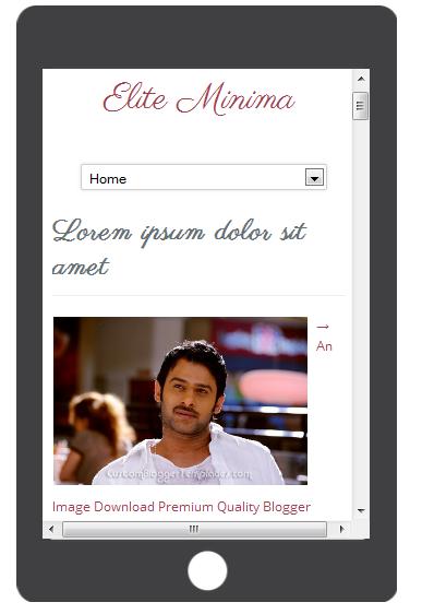 Elite Minima Responsive blogger template