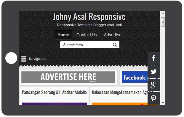 Johny Asal Responsive blogger template