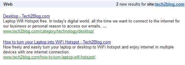 Google Alert tech2blog